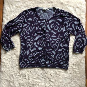 Boden 100% wool patterned cardigan size 12